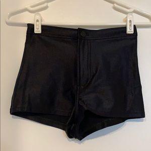 American Apparel Super Stretch High Waist Shorts